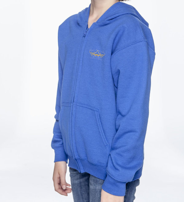 Royal Blue Zipper Hoodie